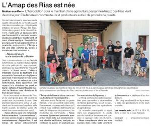 L'AMAP des Rias est née (Ouest-France)